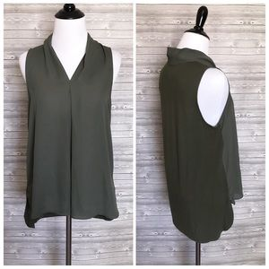 5 for $25 olive green blouse